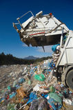 Dumping truck. Is emptying its load Royalty Free Stock Photography