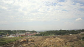 Dumping Trucks in Sand Pit stock video
