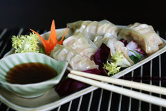 Dumpling. Japanese dumpling with pork and shrimp Royalty Free Stock Image