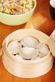 Dumpling in bamboo basket Royalty Free Stock Photos