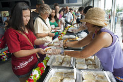 Dumpling contest Royalty Free Stock Images