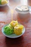 Dumpling on the dish Royalty Free Stock Image