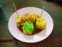 Dumpling food in street thailand stock image