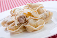 Dumpling with meat Stock Photo