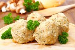 Dumpling with mushrooms Stock Photo
