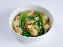 Dumpling noodle soup Royalty Free Stock Images