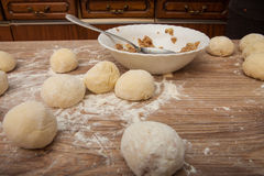 Dumpling preparation Royalty Free Stock Photography