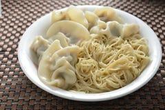 Dumpling Shanghai Noodle Stock Photo