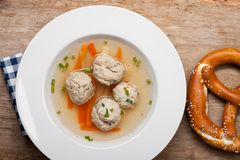 Dumpling soup Royalty Free Stock Photos