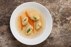 Dumpling soup Royalty Free Stock Photography