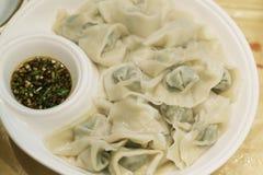 Dumpling in soup Royalty Free Stock Photo