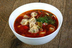 Dumpling soup Royalty Free Stock Image
