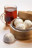 Dumpling and Tea Stock Images