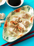 Dumplings. Formerly known as charming ear, is said to be YiSheng ZhangZhongJing first invented in China, it has one thousand eight hundred DuoNian of history stock photos