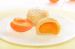 Dumplings with apricots Royalty Free Stock Image