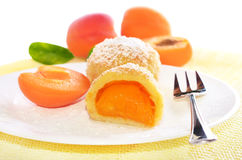 Dumplings with apricots Stock Images