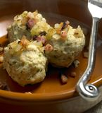 Dumplings with bacon Royalty Free Stock Photo