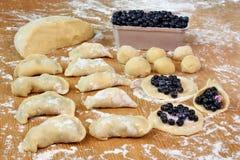 Dumplings blueberries Stock Image