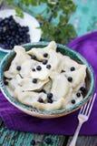Dumplings with blueberries Stock Photos