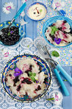 Dumplings with blueberries Stock Images