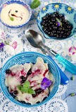 Dumplings with blueberries Royalty Free Stock Photo