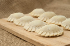 Dumplings on burlap Stock Image