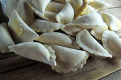 Dumplings with cabbage, potatoes Royalty Free Stock Image