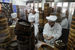 Dumplings cookshop in Shanghai Stock Images