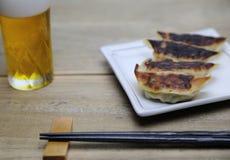 Dumplings on a dish Stock Photos