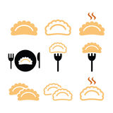 Dumplings, food  icons set Stock Photo