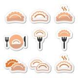 Dumplings, food  icons set Royalty Free Stock Photo