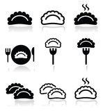 Dumplings, food  icons set Royalty Free Stock Photos