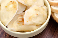 Dumplings with fried onions Royalty Free Stock Image