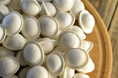 Dumplings in frozen form Stock Photography