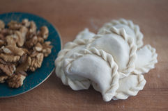 Dumplings with halva royalty free stock photography
