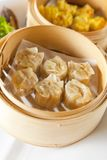 Dumplings In Bamboo Steamer Royalty Free Stock Images