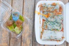 Dumplings and Kanom sago powdery starch Royalty Free Stock Photo