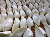 Dumplings. (a kind of pasta, Chinese New Year custom) jiaozi ,  known, formerly known as Jiao ear, is an ancient Chinese Han Chinese traditional pasta, dating stock photo