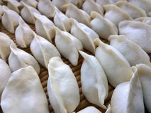 Dumplings. (a kind of pasta, Chinese New Year custom) jiaozi ,  known, formerly known as Jiao ear, is an ancient Chinese Han Chinese traditional pasta, dating stock photography