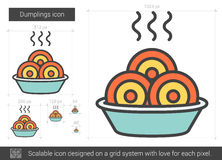 Dumplings line icon. Royalty Free Stock Photo