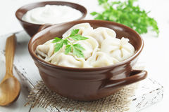 Dumplings with meat Stock Images