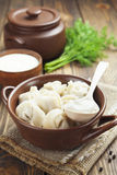 Dumplings with meat Stock Photo