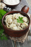 Dumplings with meat Royalty Free Stock Images