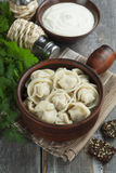 Dumplings with meat Stock Photos