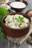 Dumplings with meat Stock Photography