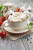 Dumplings with meat. Pelmeni russian national dish Stock Image