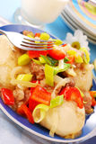 Dumplings with meat and vegetables Stock Photo