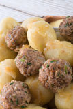 Dumplings with meatball Royalty Free Stock Images