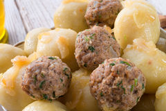 Dumplings with meatball Royalty Free Stock Photography