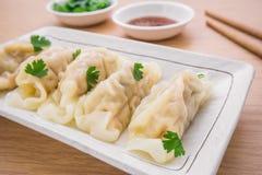 Dumplings on plate Stock Photography